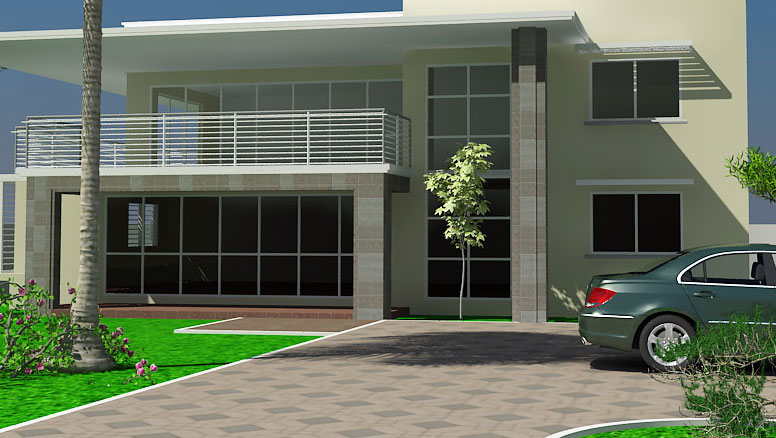 Ghana Homes | Adzo House Plan| Ghana House Plans | Ghana House ... on