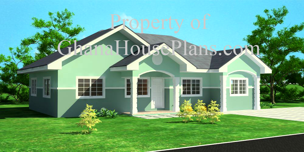 3 Bedroom Semi Detached Ghana House Plan Living Amp Dining