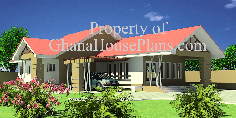 3 Bedroom Single Storey Family House in Ghana, Created by ...