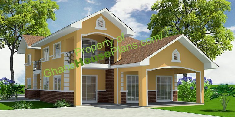 5 Bedroom Storey Family House in Accra Ghana small - Download 3 Bedroom Small Family House Design Images