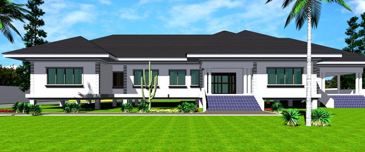 Amega | Ghana House Plans | Ghana House Designs | Ghana ...