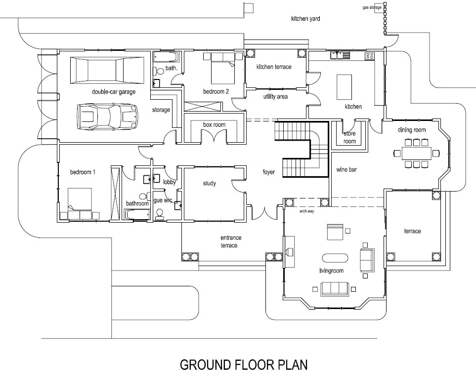 Ghana House Plans – Mantse House Plan