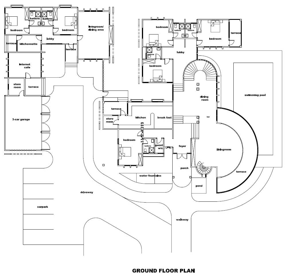 Ghana house plans otumfuo mansion house plan buy this for Floor plans for luxury mansions