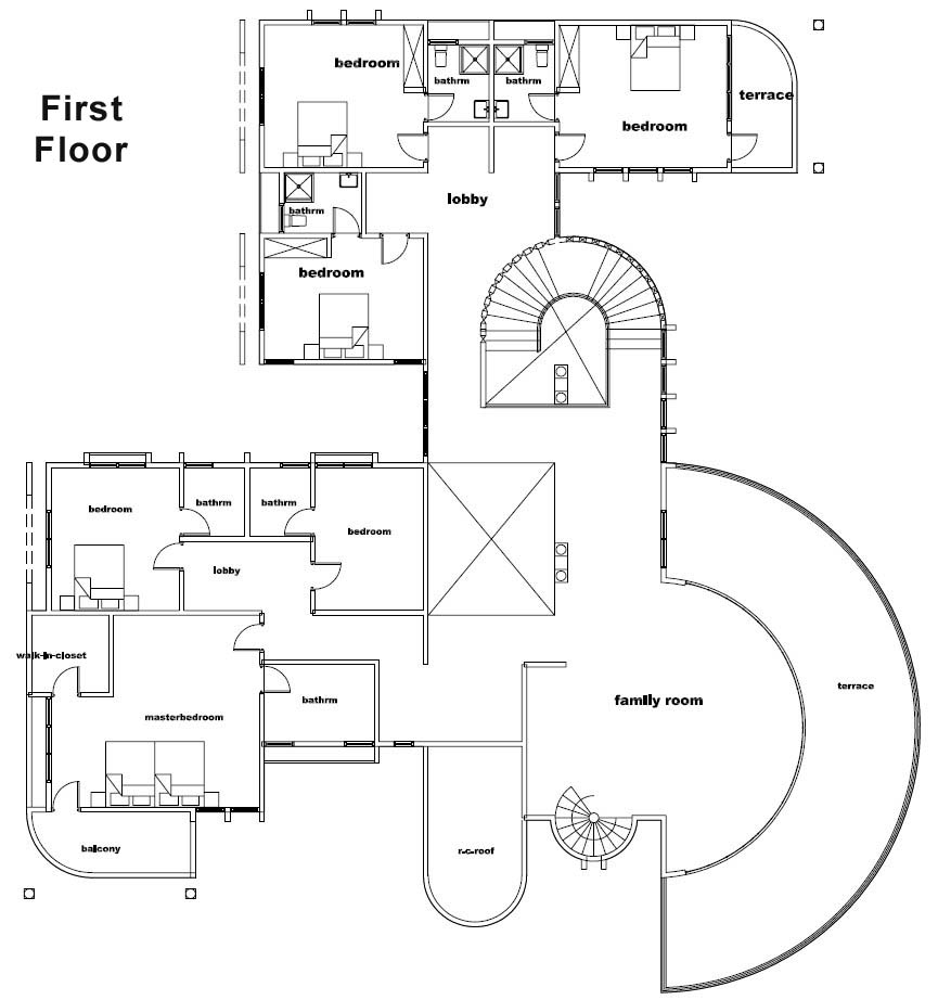 ghana house plans otumfuo mansion house plan buy this house plan - Home Design Blueprints