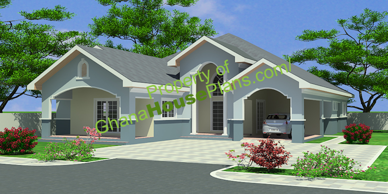 Ghana house plans maame house plan for A four bedroom house