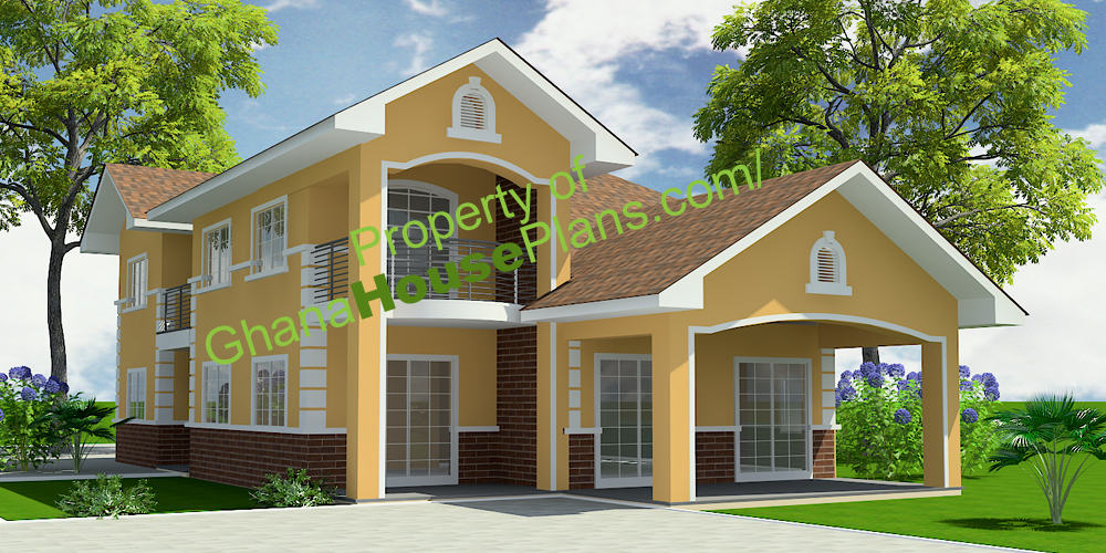 Ghana house plans 5 bedroom storey family house in accra for 5 bedroom house ideas