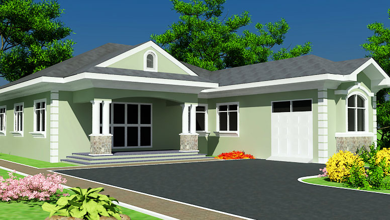Ghana house plans abeeku house plan for Ghana house plan