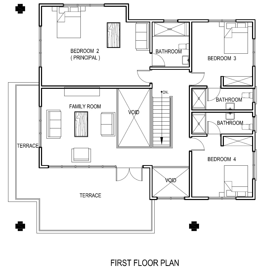 Ghana house plans adzo house plan - Houses bedroom first floor fit needs ...