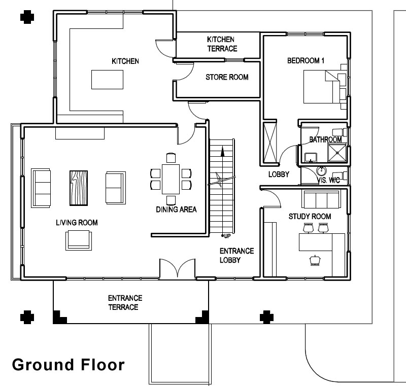 ghana house plans  u2013 adzo house plan