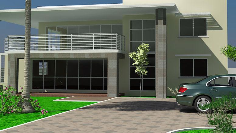 Pictures of modern houses in ghana house modern for Best house design ghana