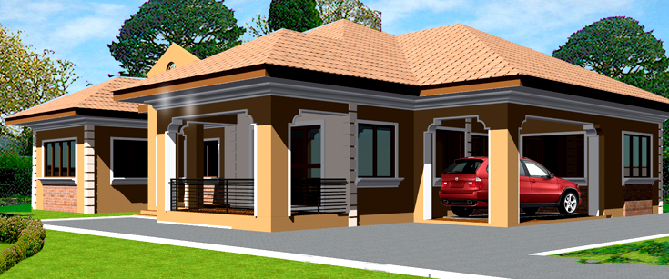 Ghana house plans adehyi house plan for Africa house plans