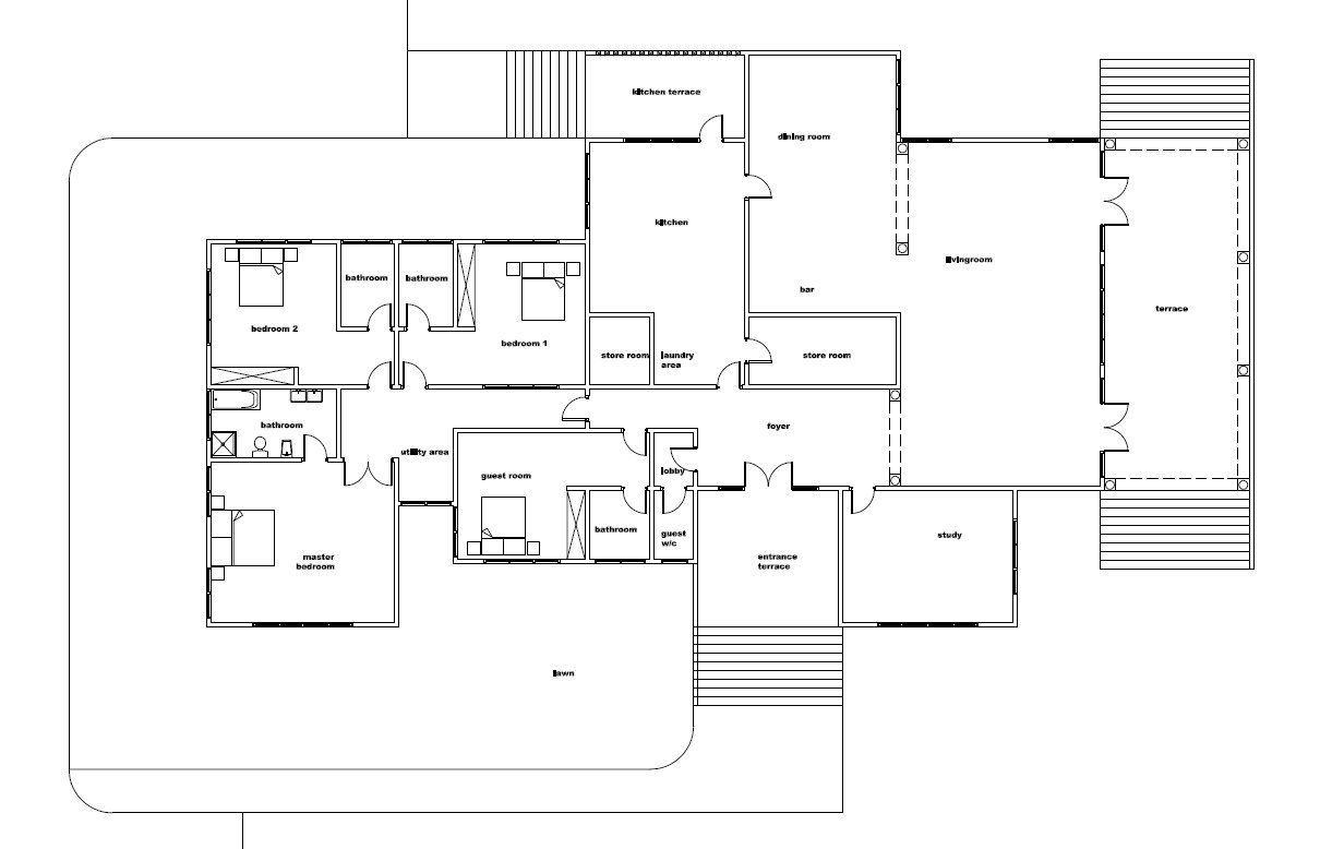 Ghana House Floor Plans Modern House