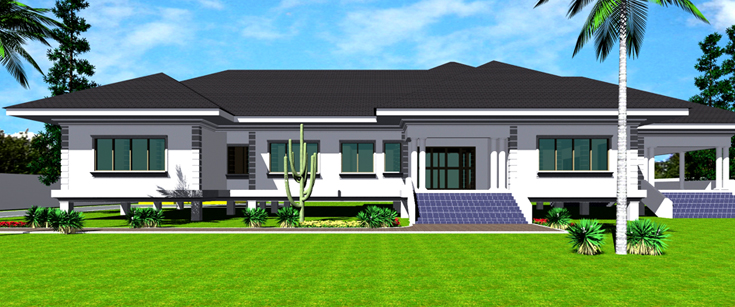 Ghana House Plans Amega House Plan