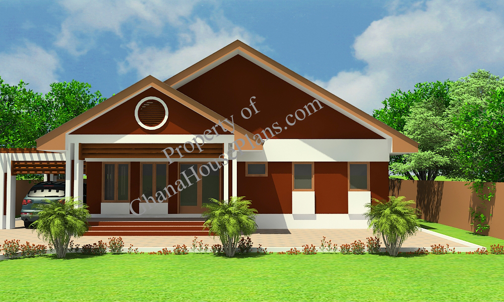 Ghana house plans country side house plan for Modern house plans in ghana