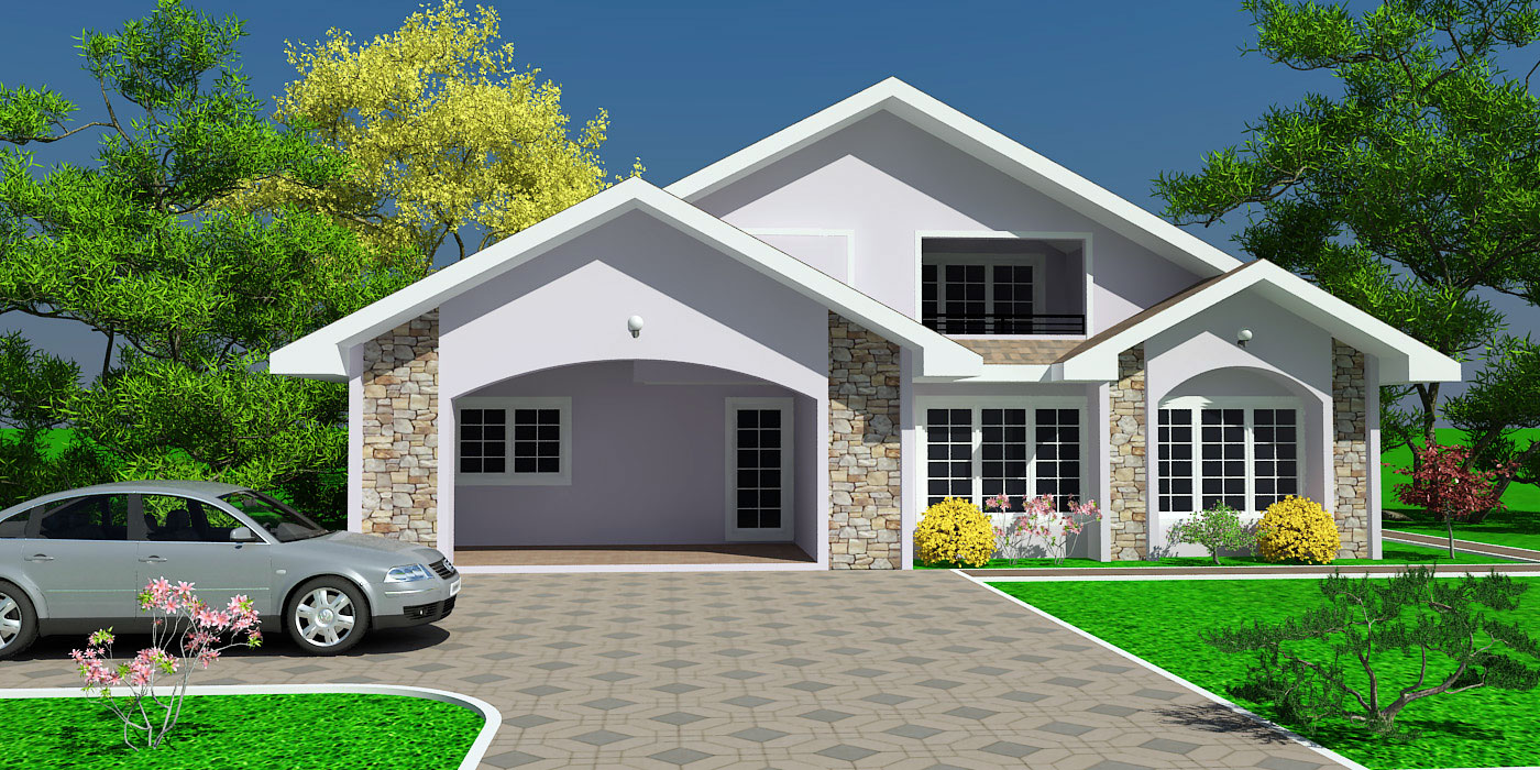 Ghana house plans house plan for chalay ghana big for Home designs ghana