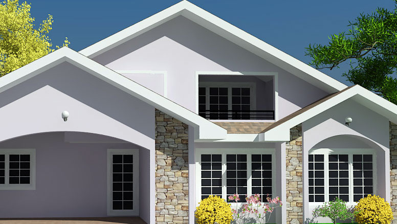 Ghana house plans chaley house plan for Home designs ghana