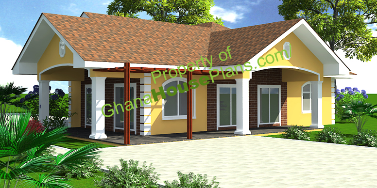 Ghana house plans larbi house plan - Bedrooms houseplans ...