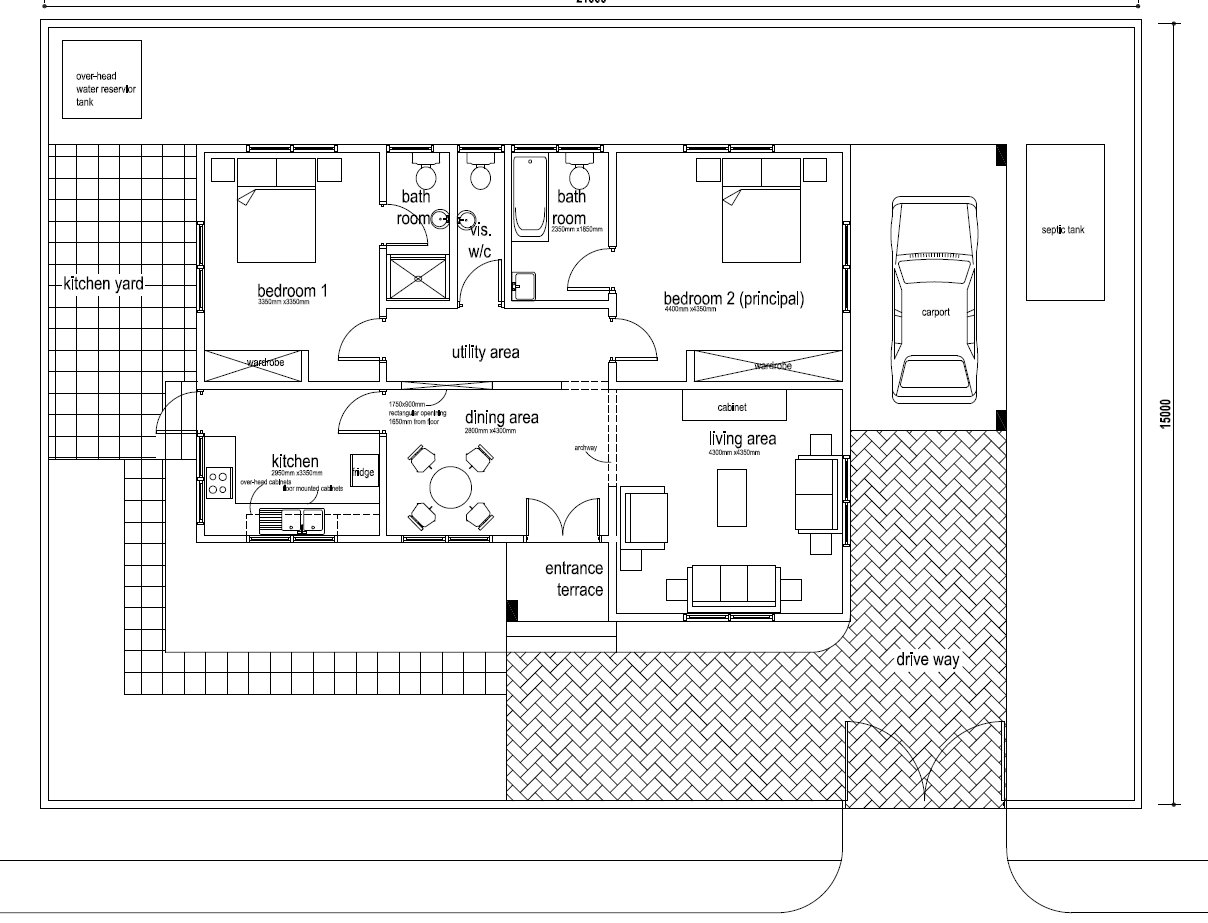 Ghana House Plans Papafio House Plan