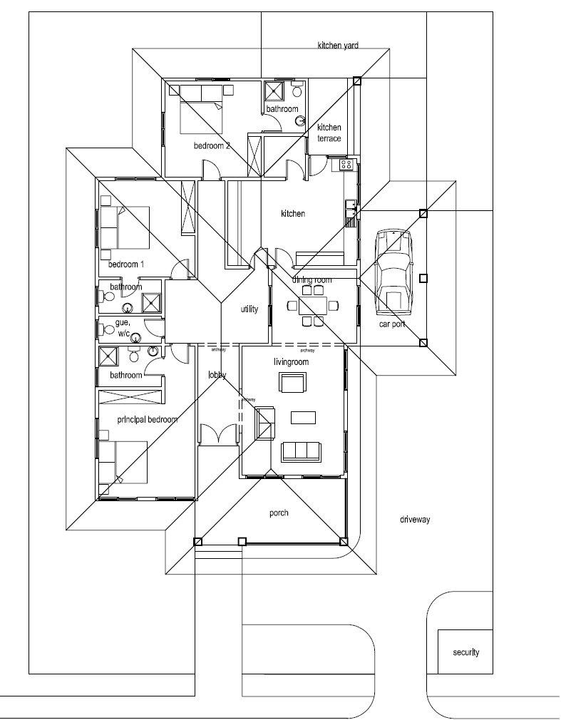 ghana house floor plans modern house Modern House Plan In Ghana house plans ghana homes blog modern house plans in ghana
