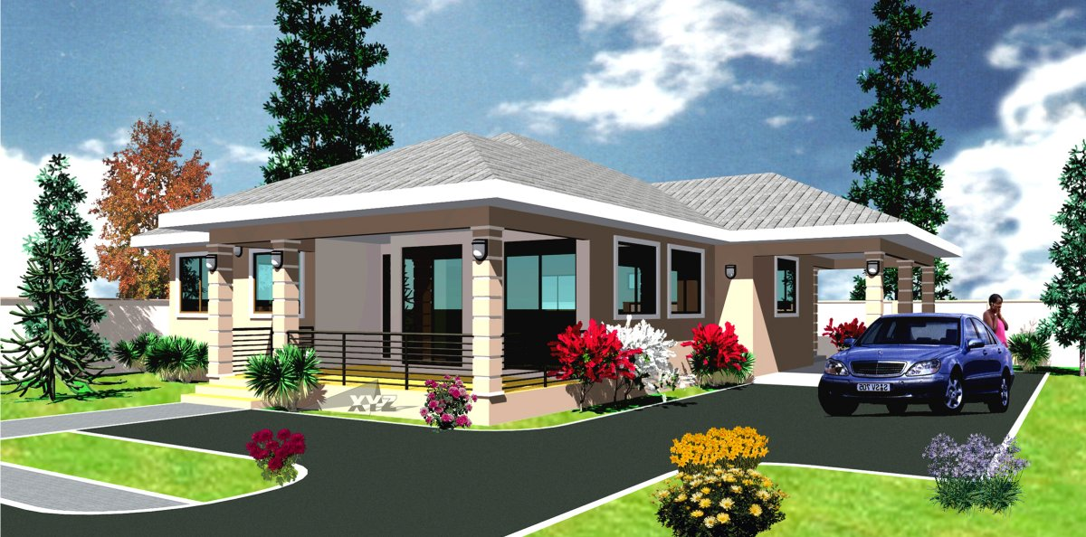 Ghana House Plans Abrantee House Plan