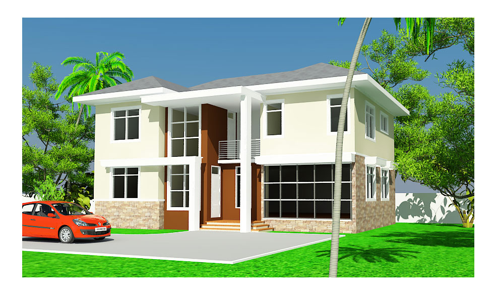 Ghana House Plans Ashon House Plan
