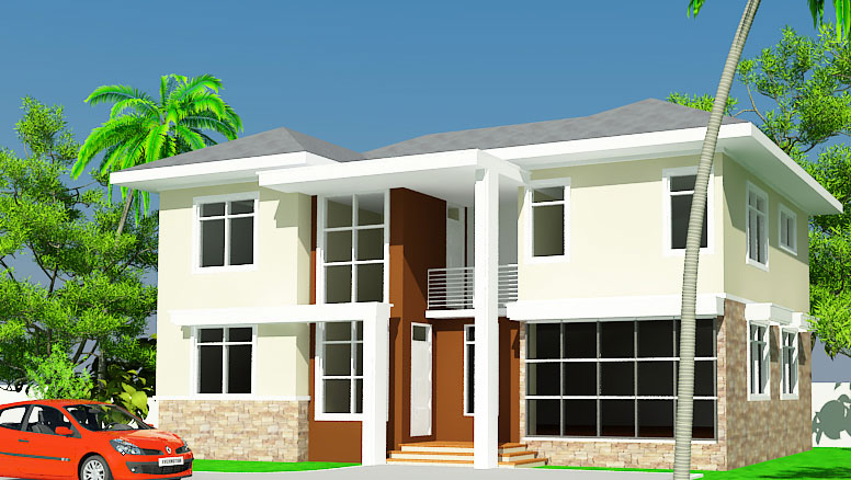 Ghana house plans ashon house plan for Home designs ghana