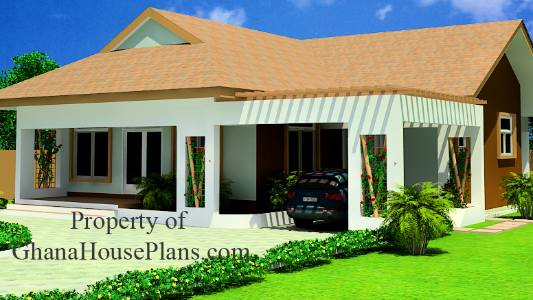 Ghana house plans aku sika 2 bedroom single storey for 2 bedroom house for sale