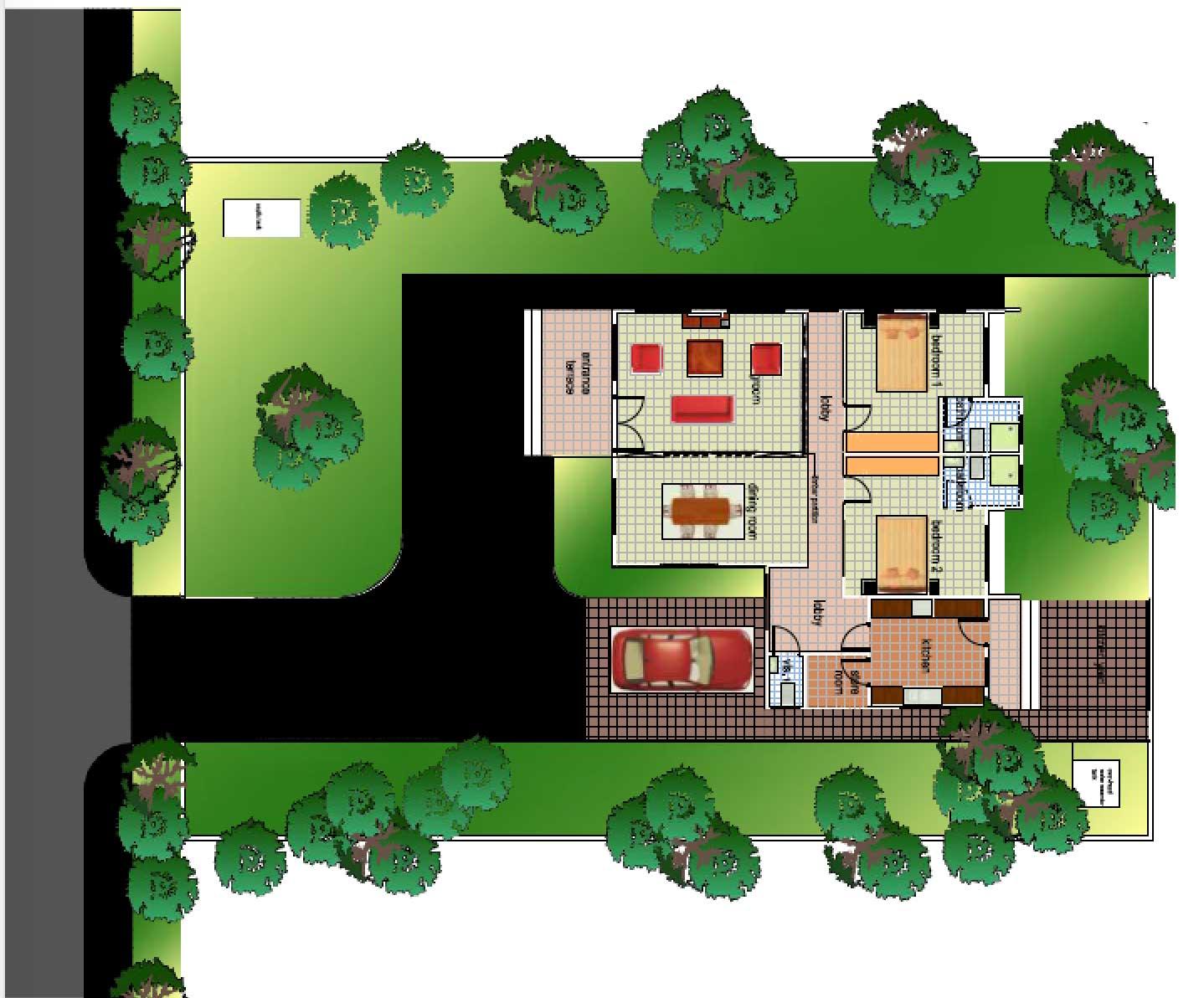 Ghana House Plans Aku Sika House Plan