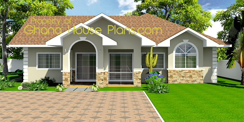 Ghana house plans kingsley house plan for 3 room house plan