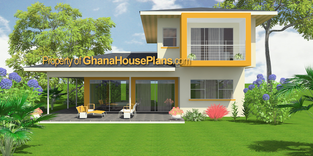 Ghana house plans daavi house plan 3 bedrooms 3 5 baths 2 storey single family home design large - Single family home designs ...