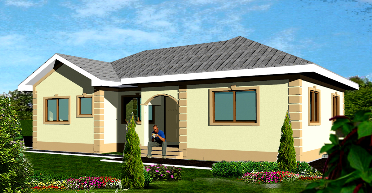 Ghana house plans fiifi house plan House plans