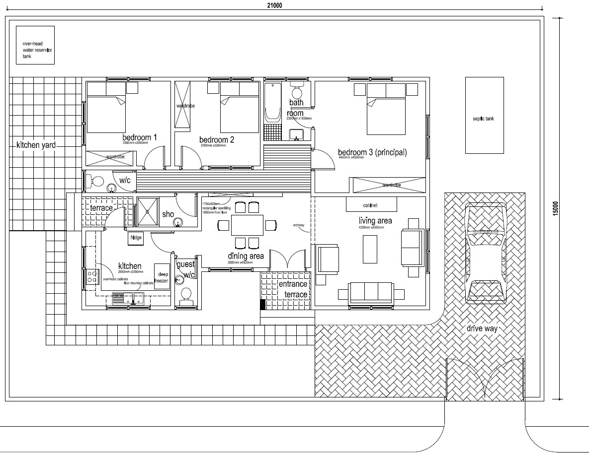 Fiifi House Plan $997