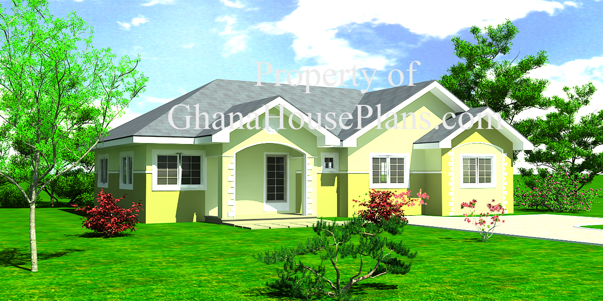 Three bedroom house plans in ghana house plans for Ghana house plan