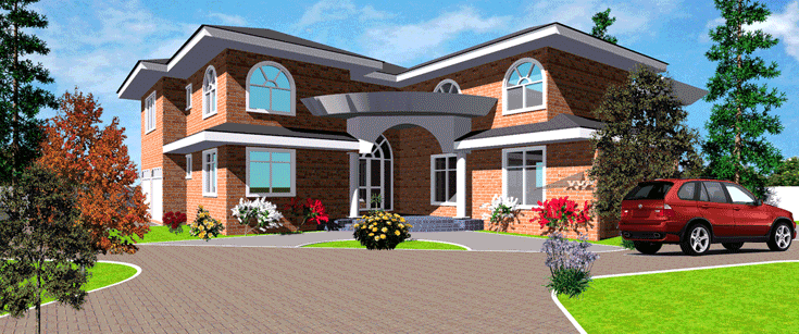 Ghana house plans kokroko house plan for Home designs ghana