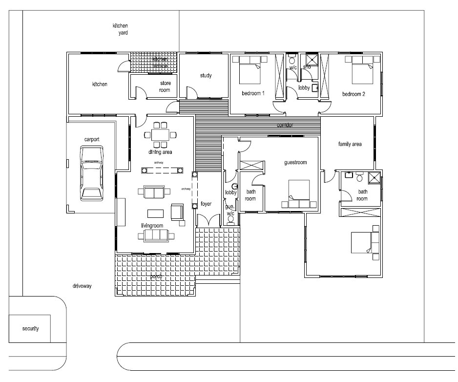 Ghana house plans asafoatse house plan for Home floor plans