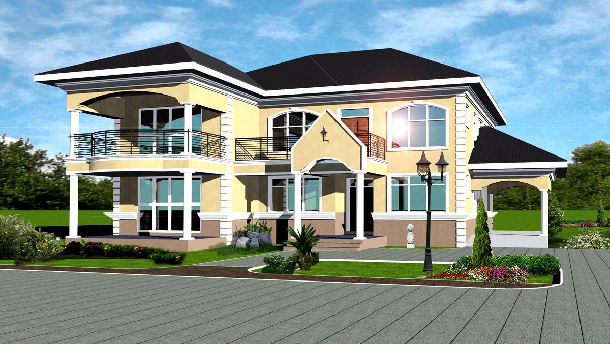 Ghana House Plans Chief House Plan