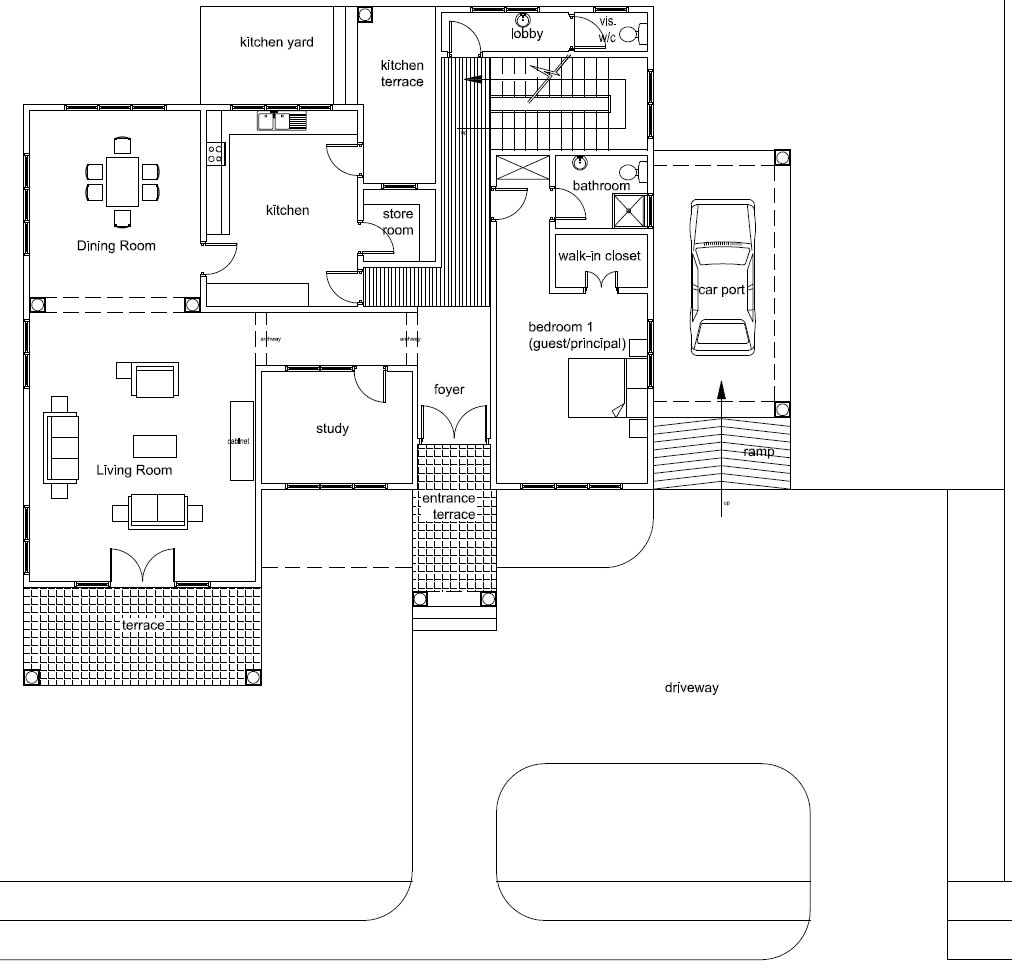 Ghana house floor plans for Ghana house plan
