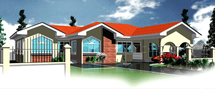 Ghana house plans berma house plan for Home designs ghana