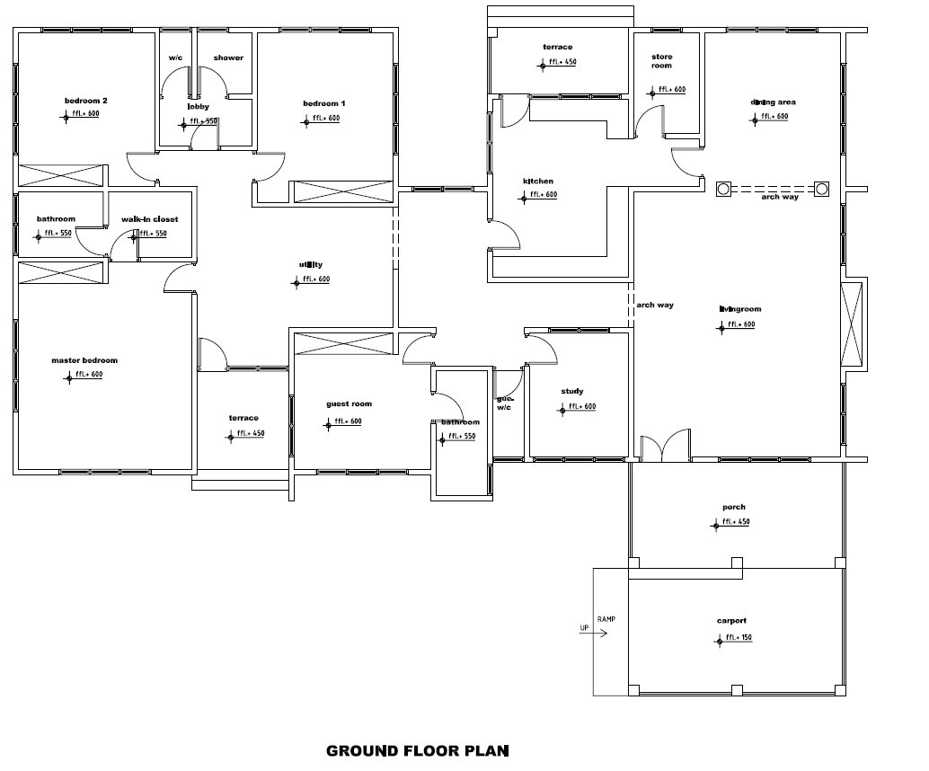Ghana house plans ghana house plan for berma groundfloor for Building floor plans