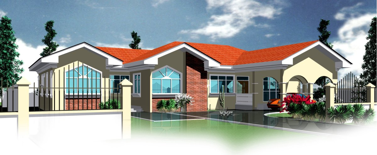 Ghana house plans berma house plan for Modern houses in ghana