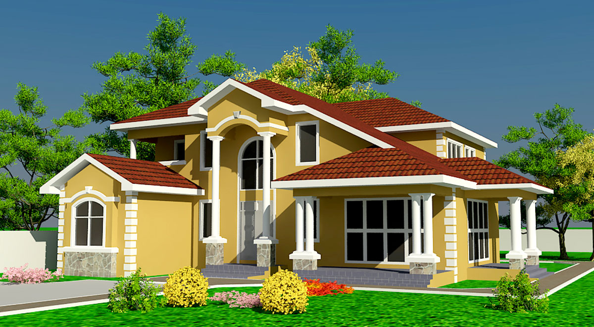 Ghana house plans naanorley house plan for Plan my house