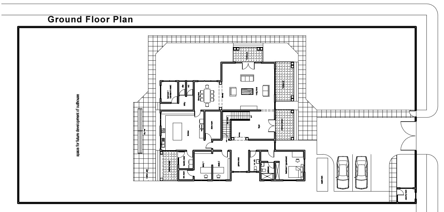 Ghana house plans naanorley house plan for Building floor plans