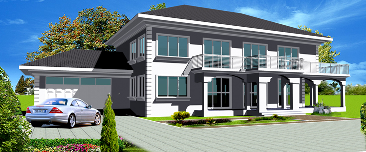 Ghana house plans nhyira house plan for Home designs ghana