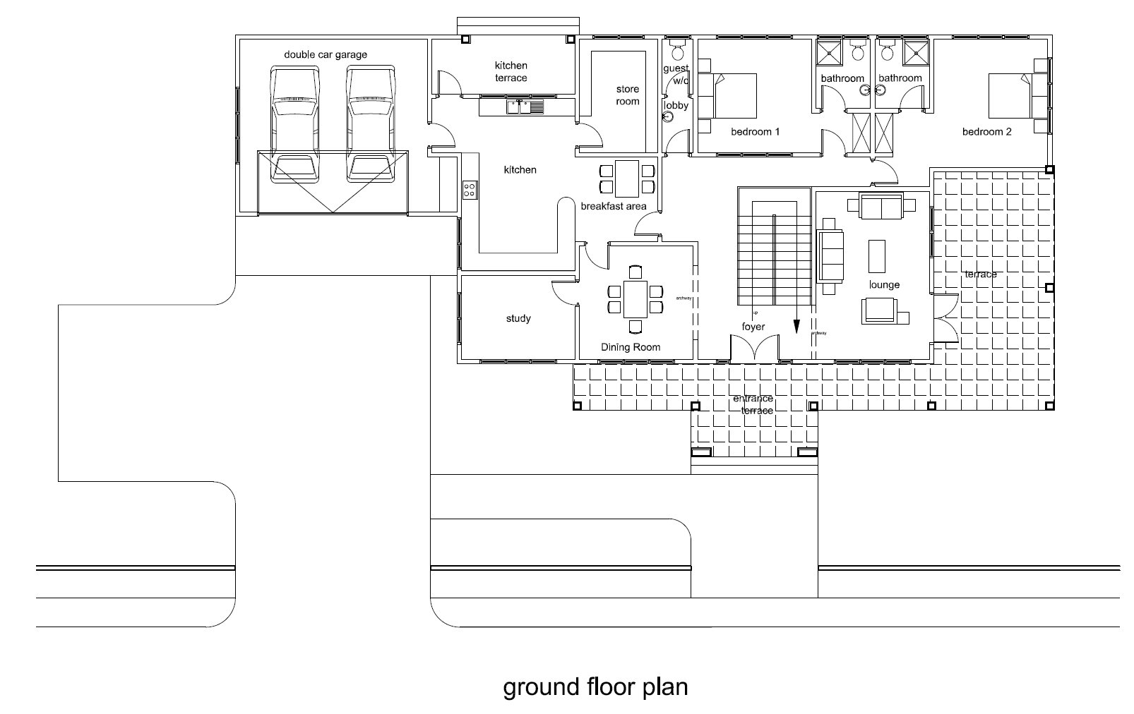 Ghana House Plans   Nhyira House PlanNhyira House Plan       Previous  Next