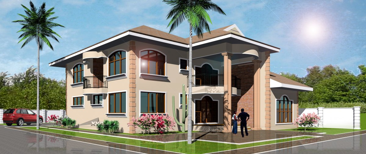 Ghana House Plans Nene House Plan
