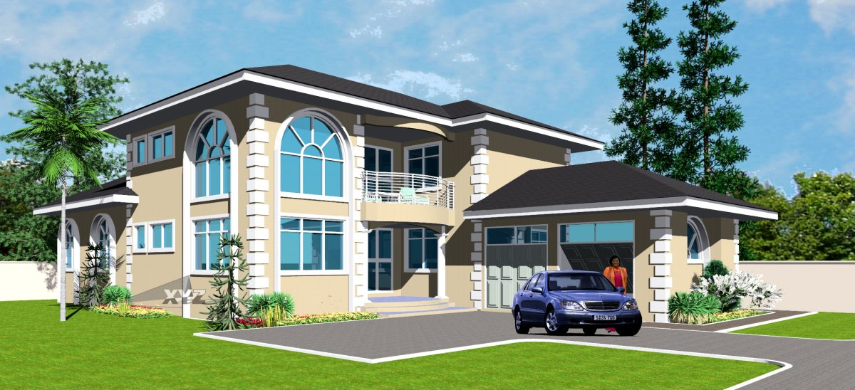 Modern house plans ghana house design ideas for Home designs ghana