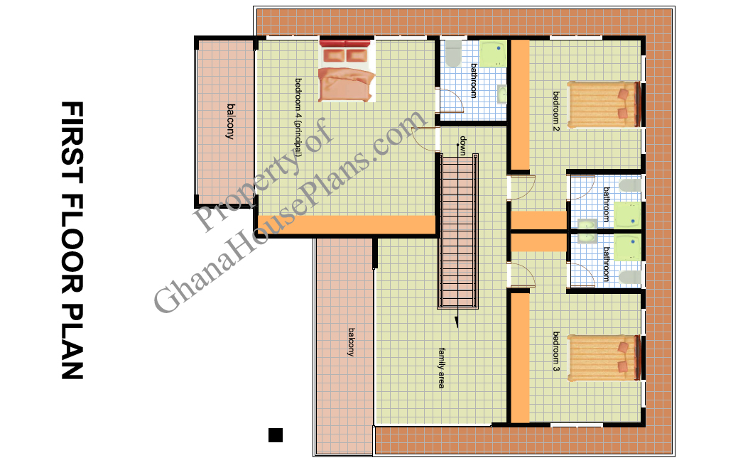 Ghana House Plans Owura House Plan