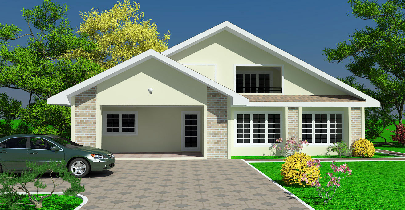Ghana house plans padi house plan for Large simple house plans