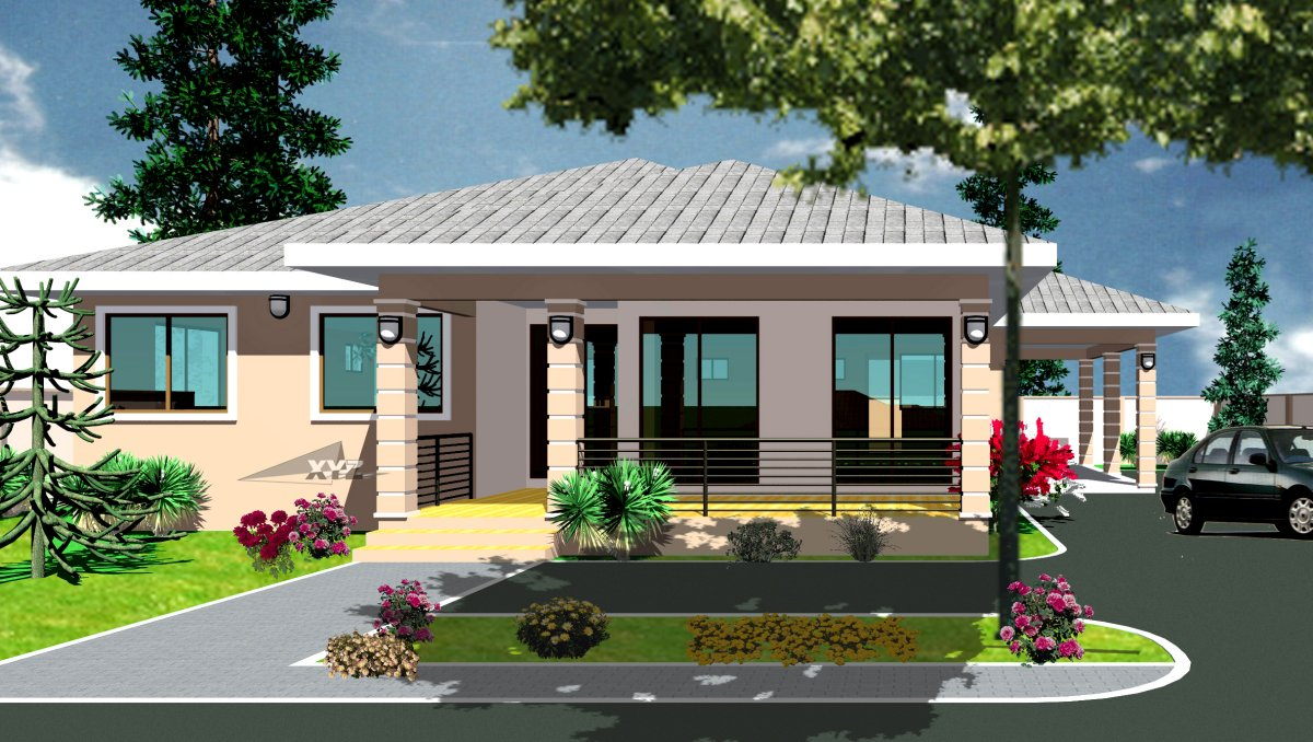 Ghana House Plans Krakye House Plan