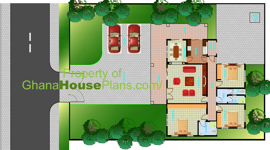 Ghana House Plans Larbi House Plan